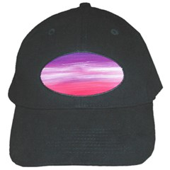 Abstract In Pink & Purple Black Baseball Cap