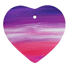 Abstract In Pink & Purple Heart Ornament