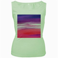 Abstract In Pink & Purple Women s Tank Top (Green)
