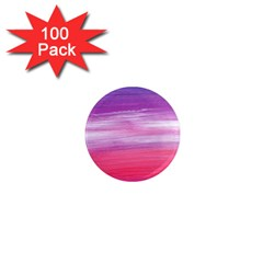 Abstract In Pink & Purple 1  Mini Button Magnet (100 Pack)