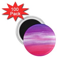 Abstract In Pink & Purple 1.75  Button Magnet (100 pack)