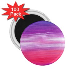 Abstract In Pink & Purple 2.25  Button Magnet (100 pack)