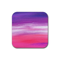Abstract In Pink & Purple Drink Coaster (square)