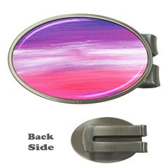 Abstract In Pink & Purple Money Clip (oval)