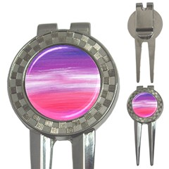 Abstract In Pink & Purple Golf Pitchfork & Ball Marker