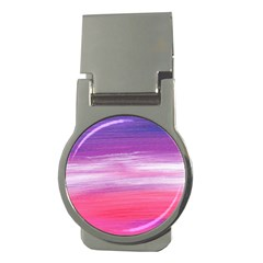 Abstract In Pink & Purple Money Clip (Round)