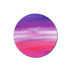 Abstract In Pink & Purple Drink Coaster (round)