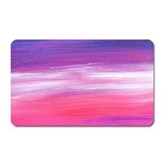 Abstract In Pink & Purple Magnet (rectangular)
