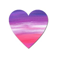 Abstract In Pink & Purple Magnet (Heart)