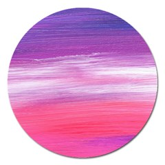Abstract In Pink & Purple Magnet 5  (Round)