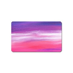 Abstract In Pink & Purple Magnet (name Card)