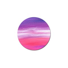 Abstract In Pink & Purple Golf Ball Marker