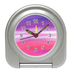 Abstract In Pink & Purple Desk Alarm Clock