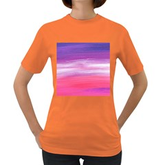 Abstract In Pink & Purple Women s T-shirt (Colored)