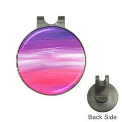 Abstract In Pink & Purple Hat Clip With Golf Ball Marker