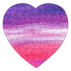 Abstract In Pink & Purple Jigsaw Puzzle (Heart)