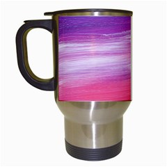 Abstract In Pink & Purple Travel Mug (white)