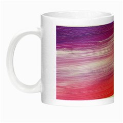 Abstract In Pink & Purple Glow In The Dark Mug