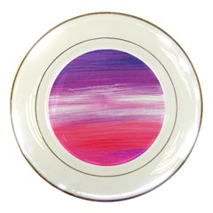 Abstract In Pink & Purple Porcelain Display Plate
