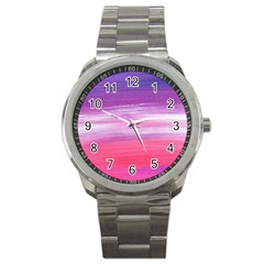 Abstract In Pink & Purple Sport Metal Watch