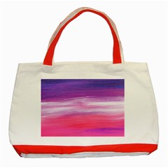 Abstract In Pink & Purple Classic Tote Bag (Red)