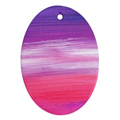 Abstract In Pink & Purple Oval Ornament (two Sides)