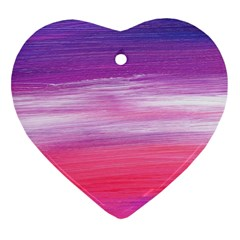Abstract In Pink & Purple Heart Ornament (Two Sides)