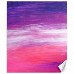 Abstract In Pink & Purple Canvas 8  X 10  (unframed)