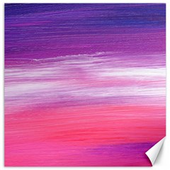 Abstract In Pink & Purple Canvas 12  X 12  (unframed)