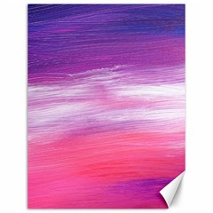 Abstract In Pink & Purple Canvas 12  x 16  (Unframed)