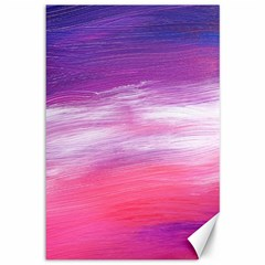 Abstract In Pink & Purple Canvas 12  x 18  (Unframed)