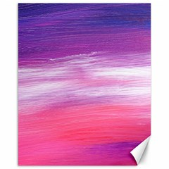 Abstract In Pink & Purple Canvas 16  x 20  (Unframed)