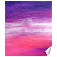 Abstract In Pink & Purple Canvas 20  x 24  (Unframed)