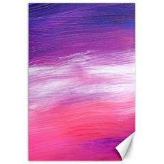 Abstract In Pink & Purple Canvas 20  X 30  (unframed)