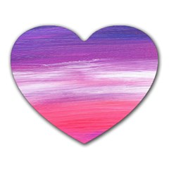 Abstract In Pink & Purple Mouse Pad (heart)