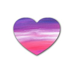 Abstract In Pink & Purple Drink Coasters 4 Pack (Heart)