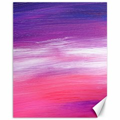 Abstract In Pink & Purple Canvas 11  x 14  (Unframed)