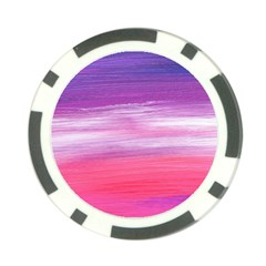 Abstract In Pink & Purple Poker Chip