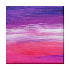 Abstract In Pink & Purple Face Towel