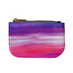 Abstract In Pink & Purple Coin Change Purse
