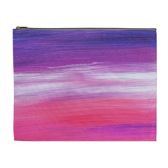 Abstract In Pink & Purple Cosmetic Bag (xl)