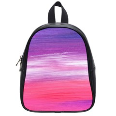 Abstract In Pink & Purple School Bag (small)
