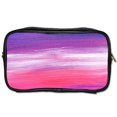 Abstract In Pink & Purple Travel Toiletry Bag (one Side)