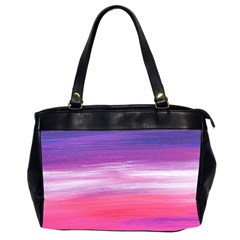 Abstract In Pink & Purple Oversize Office Handbag (Two Sides)