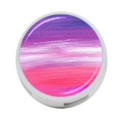 Abstract In Pink & Purple 4 Port Usb Hub (two Sides)