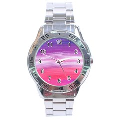 Abstract In Pink & Purple Stainless Steel Watch