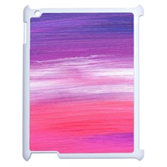 Abstract In Pink & Purple Apple Ipad 2 Case (white)