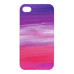 Abstract In Pink & Purple Apple Iphone 4/4s Premium Hardshell Case