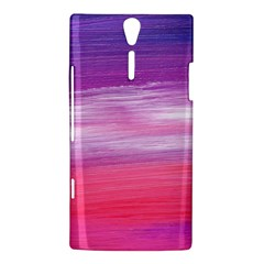 Abstract In Pink & Purple Sony Xperia S Hardshell Case