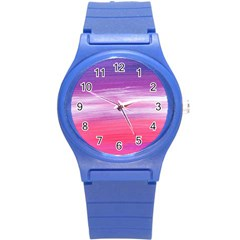 Abstract In Pink & Purple Plastic Sport Watch (small)